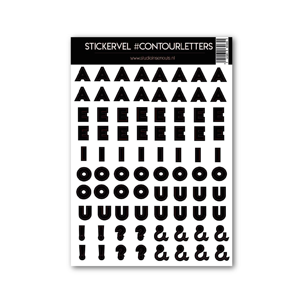 Stickervel | Contour Klinkers