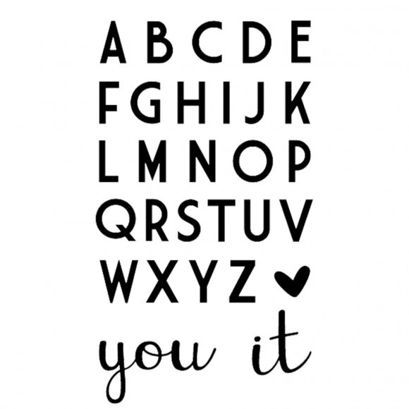 Stansvorm: Love it! Letters