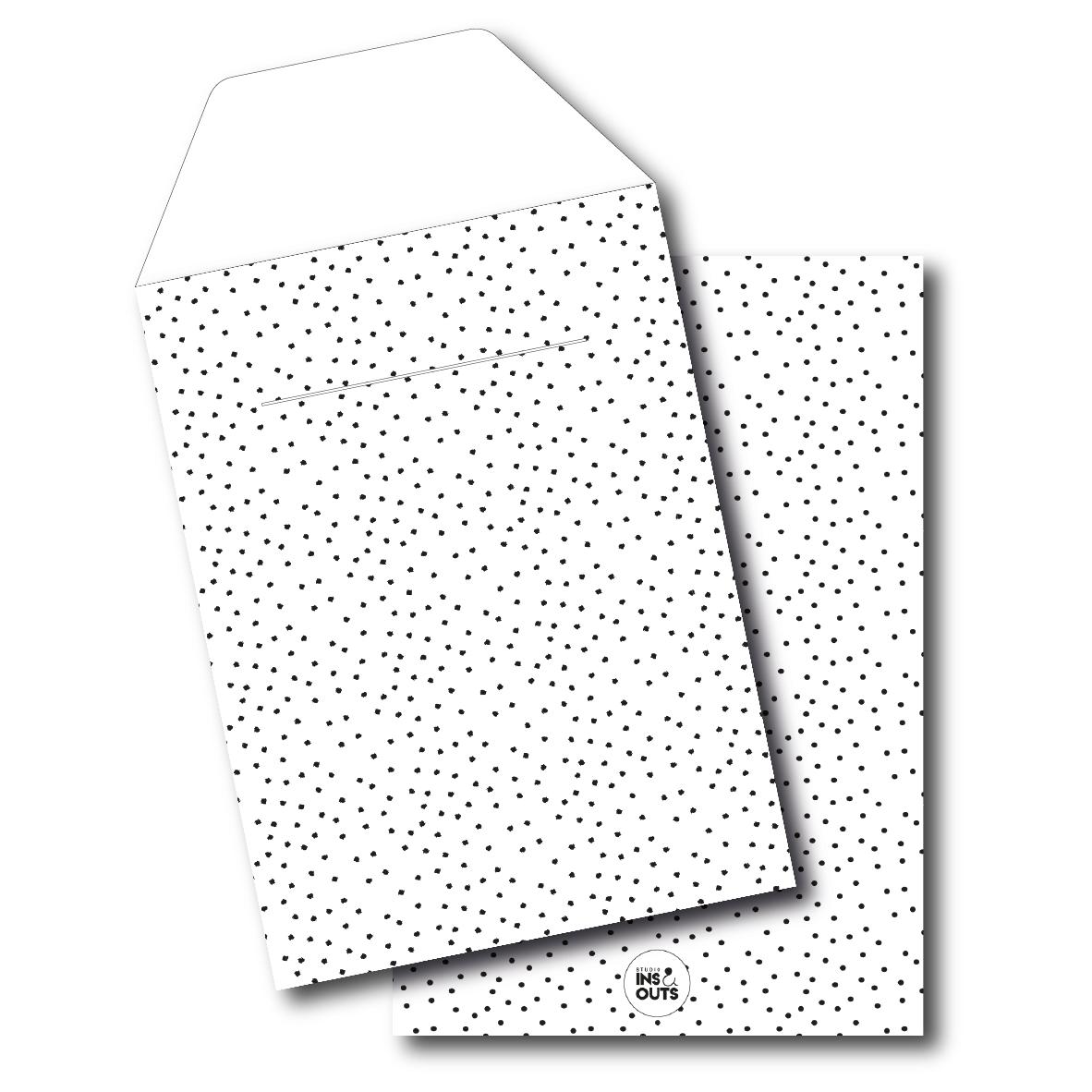 Set van 5 cadeau zakjes | A5 | Small dots