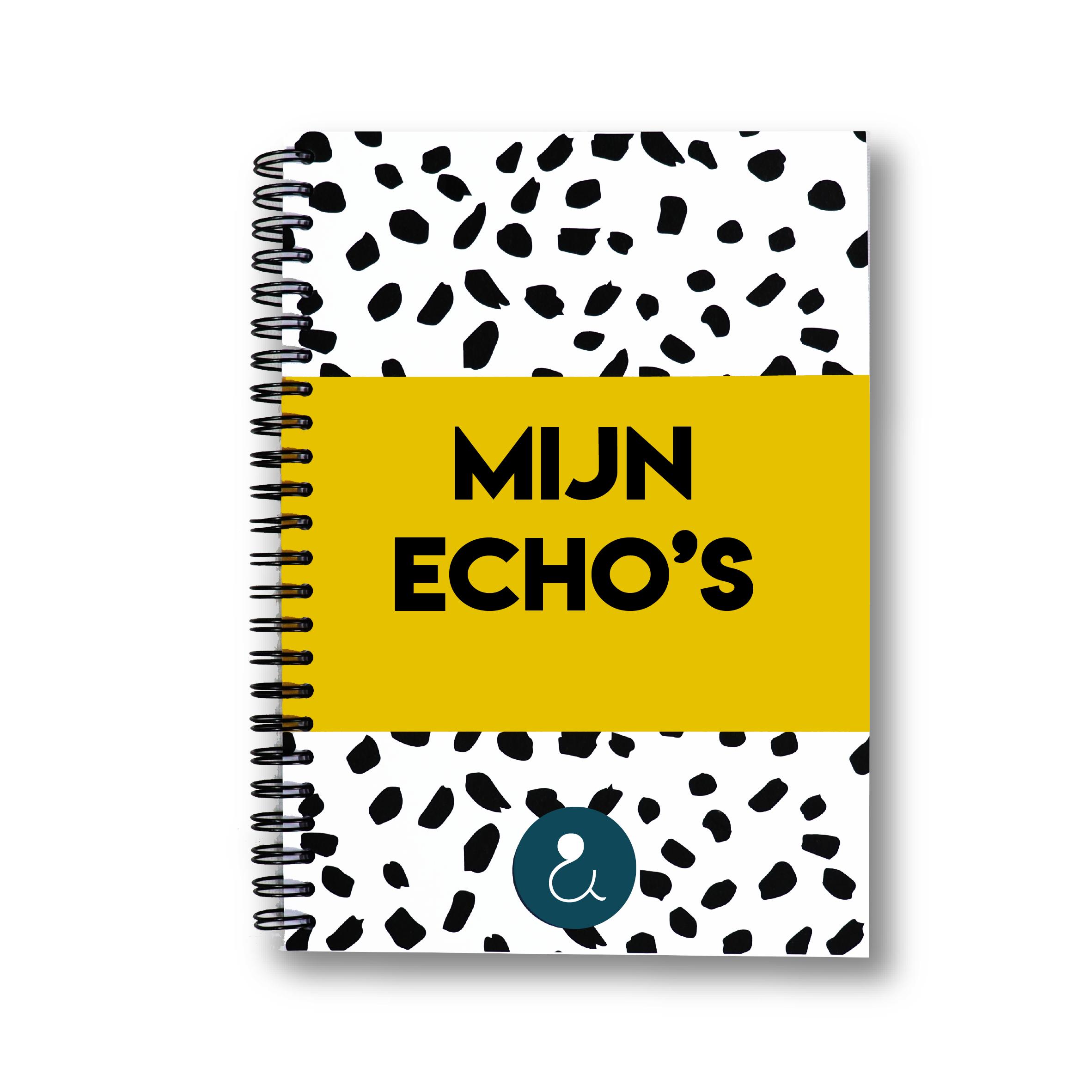Echo boekje   okergeel