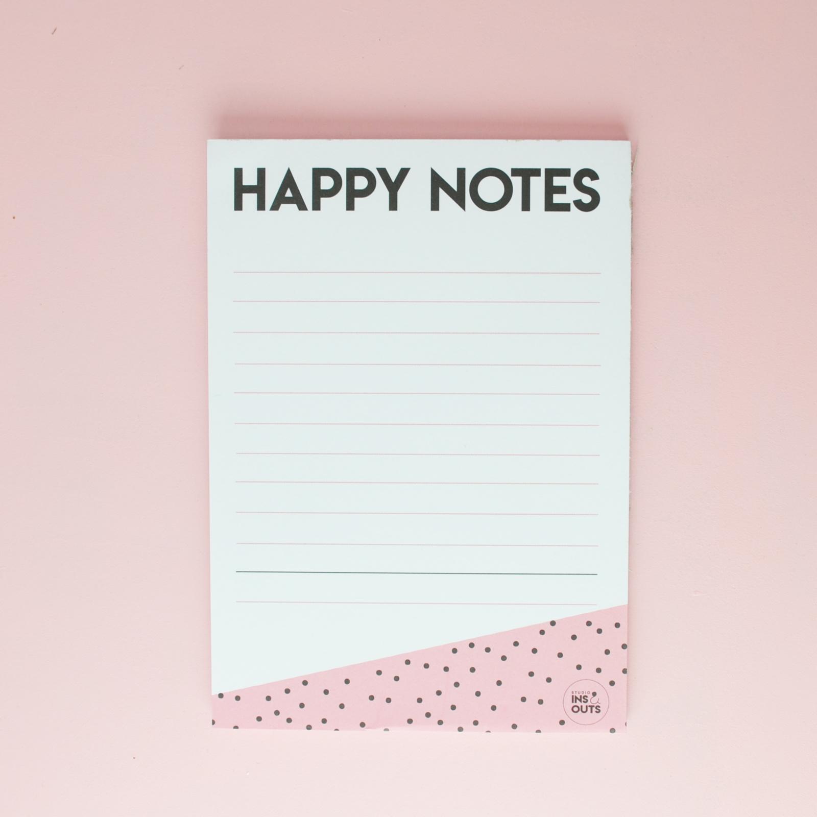 Notitieblokje: Happy Notes