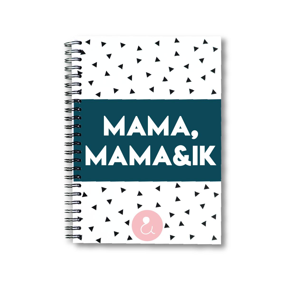 Mama, mama&ik | invulboek voor mama's (roze stip)