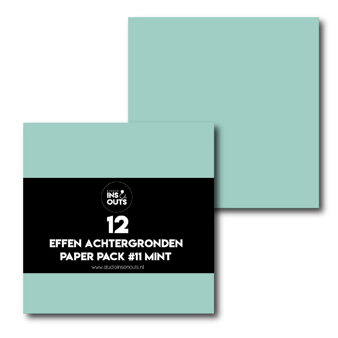 Paper Pack #11 - mint effen