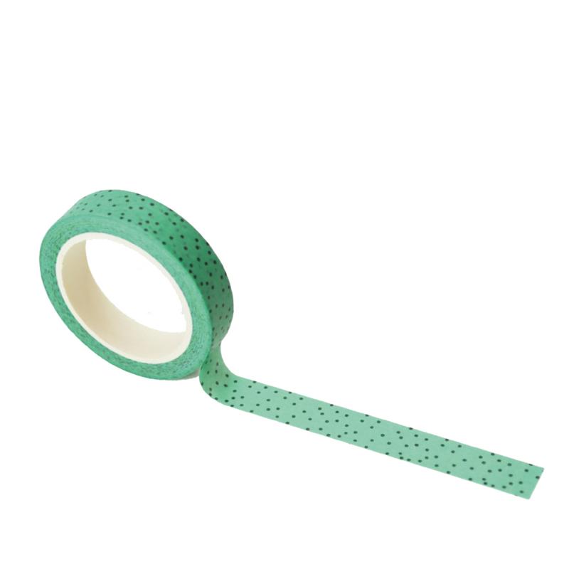 Mint washi tape: Minty dots