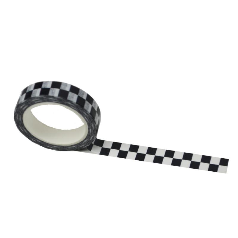 Zwart wit geblokte washi tape: Monochrome blocked