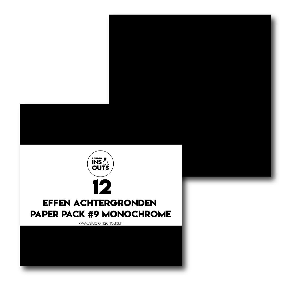 Paper Pack #9 - monochrome effen
