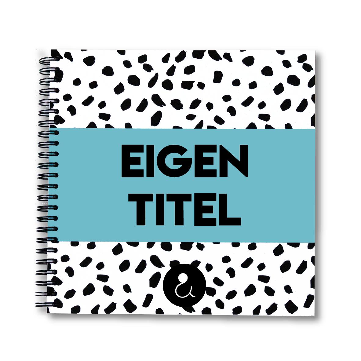 Plakboek met eigen titel   lichtblauw