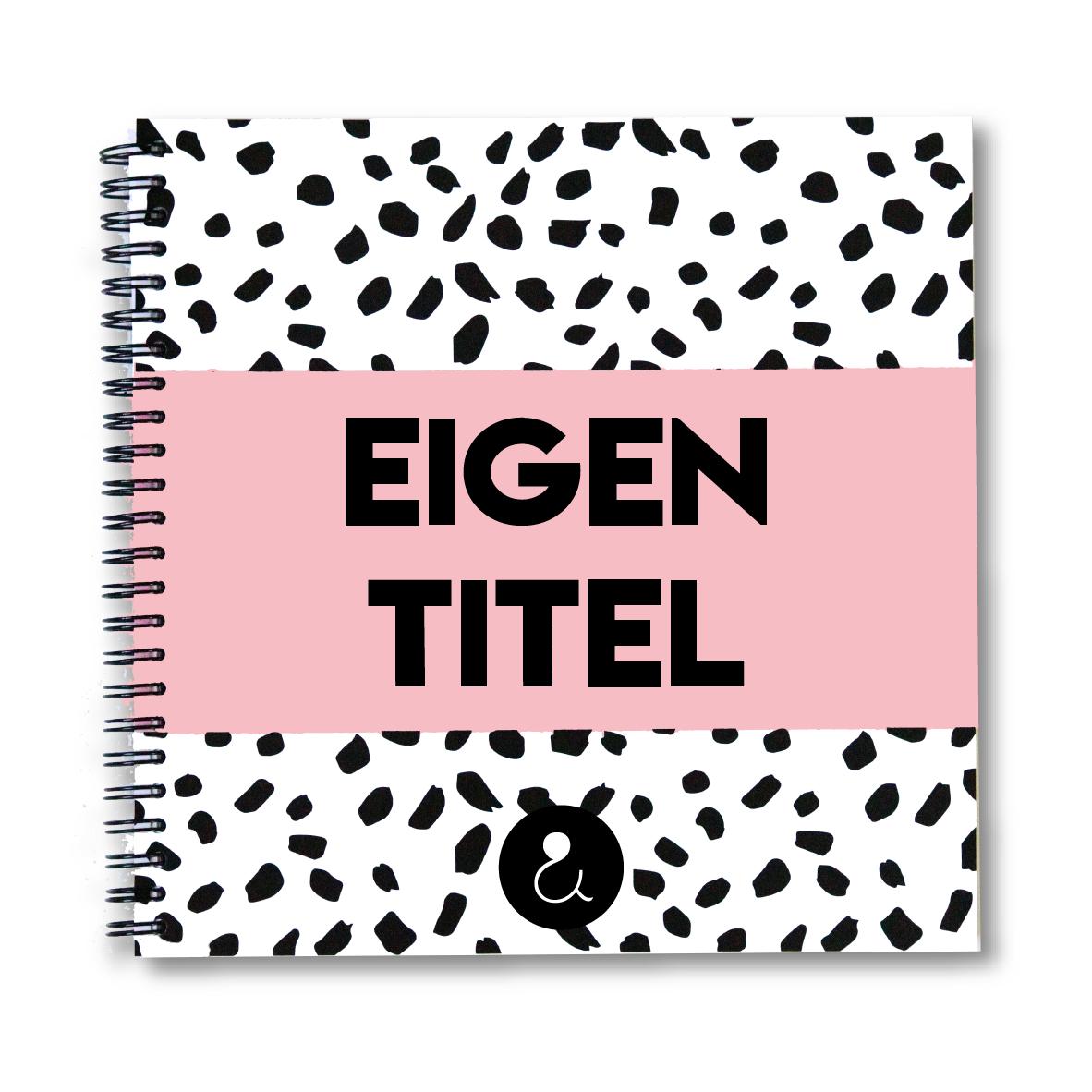 Plakboek met eigen titel | roze