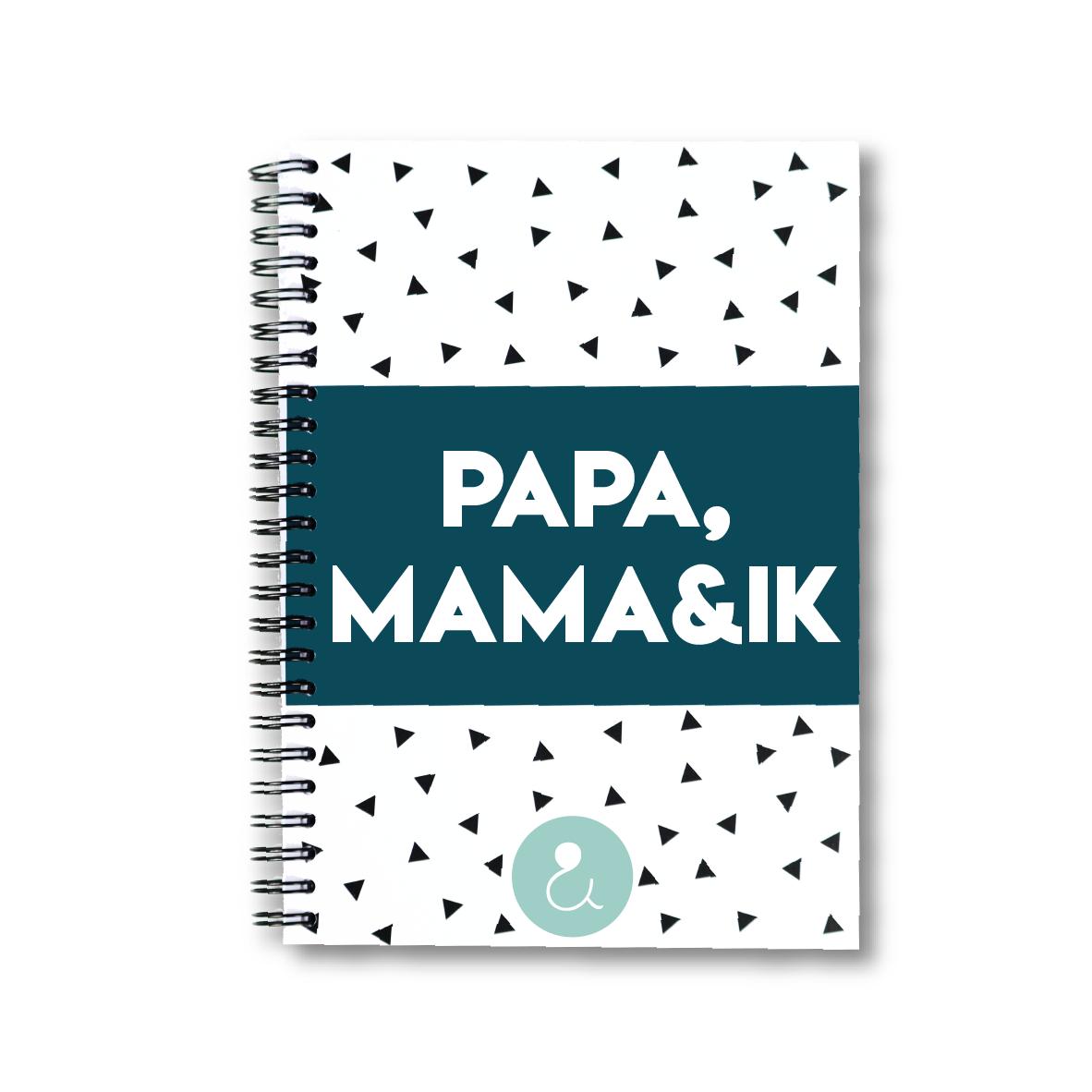 Papa, mama&ik | invulboek voor papa's en mama's (mint stip)
