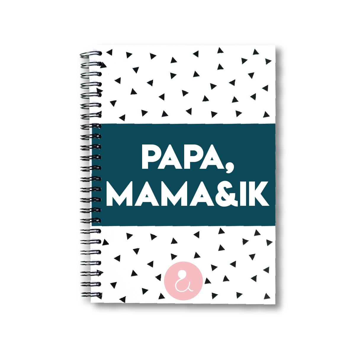 Papa, mama&ik   invulboek voor papa's en mama's (roze stip)