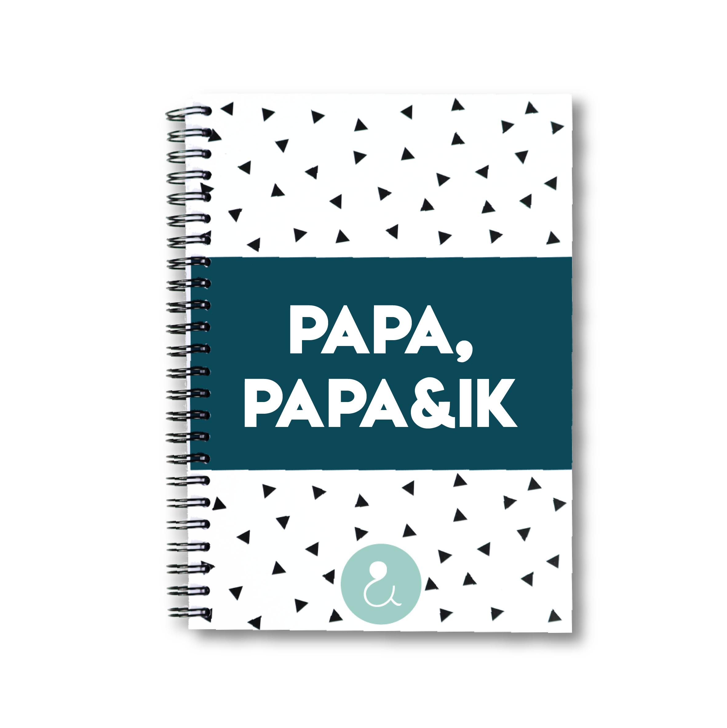 Papa, papa&ik | invulboek voor papa's (mint stip)