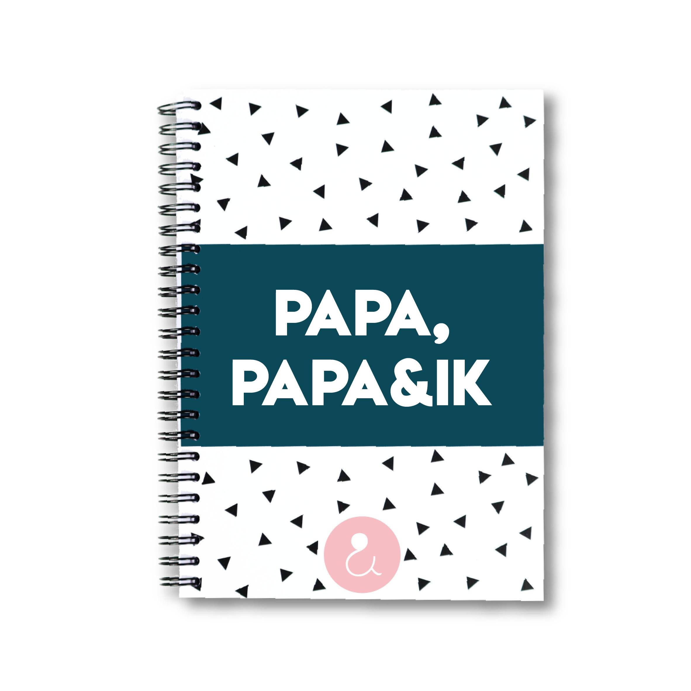 Papa, papa&ik | invulboek voor papa's (roze stip)
