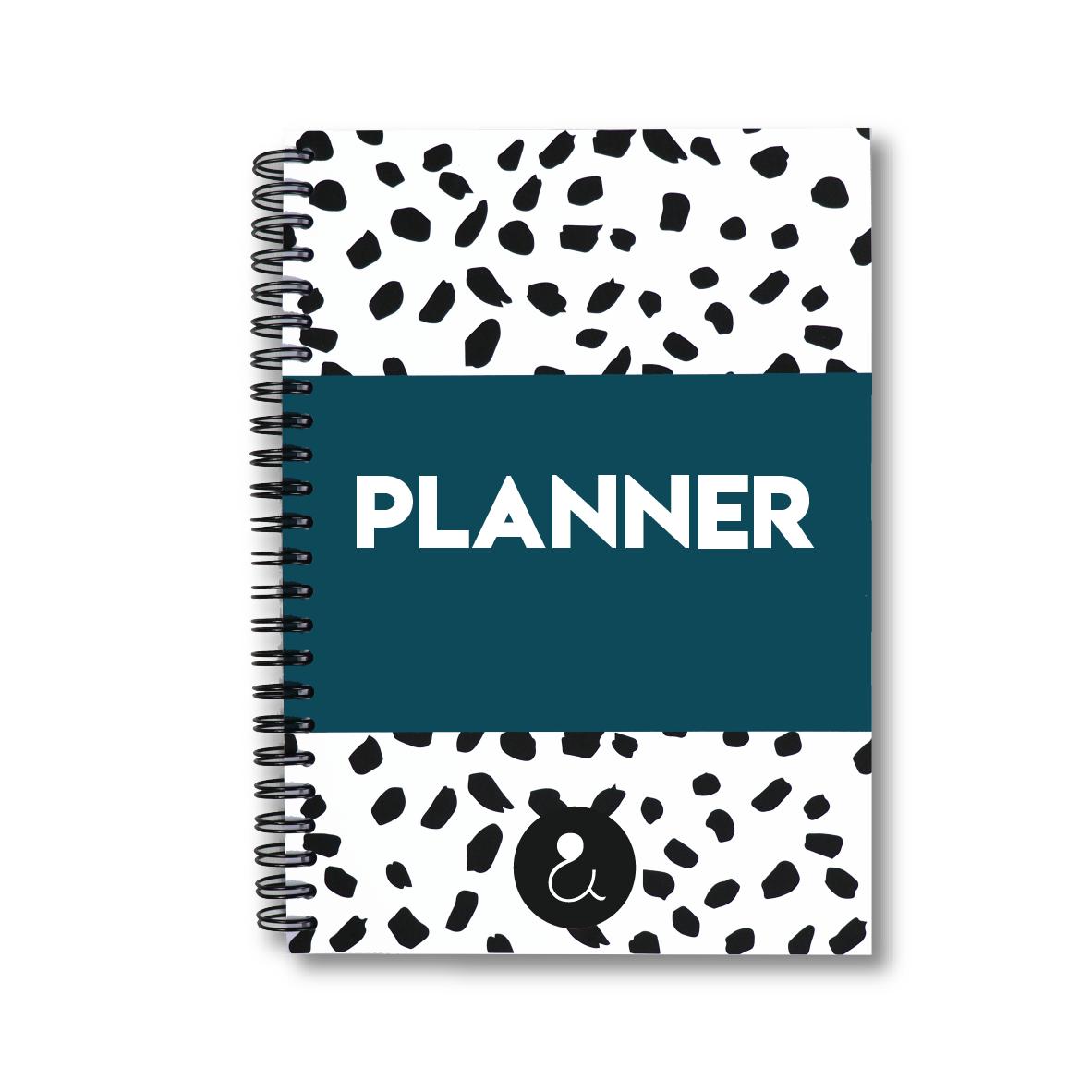 Planner a5 met stickers   donkerblauw