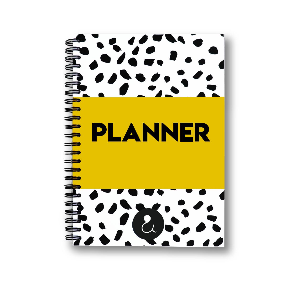 Planner Agenda 2022 a5 met stickers   okergeel