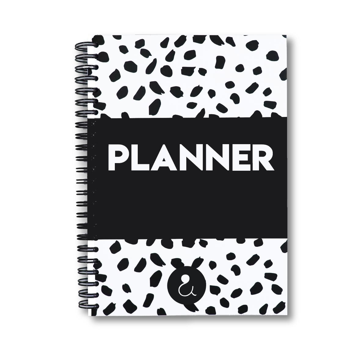 Planner Agenda 2022 a5 met stickers   monochrome