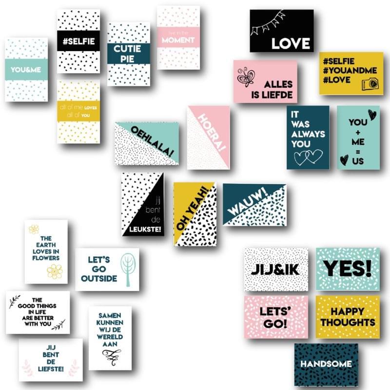 Set van 25 Quotekaartjes | Love