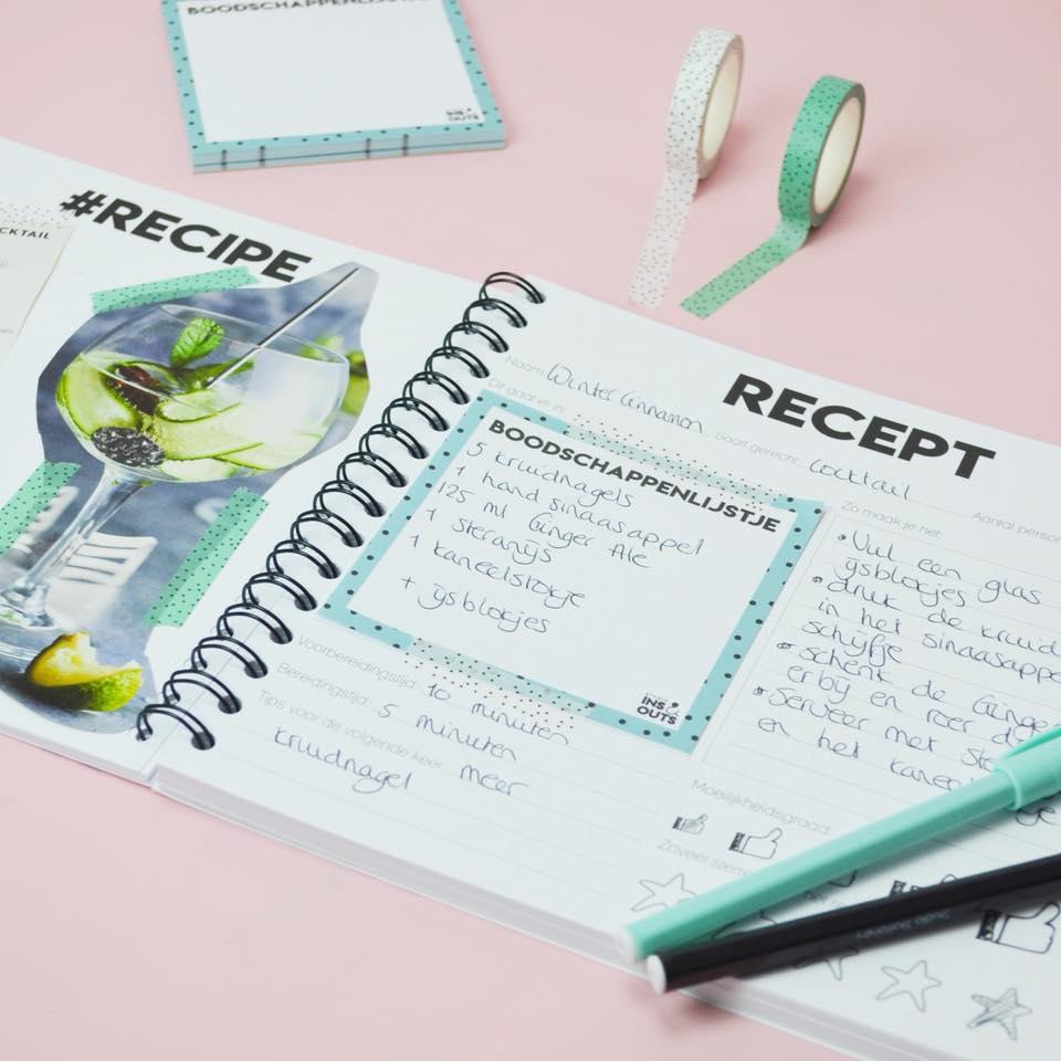 receptenboekcloseup
