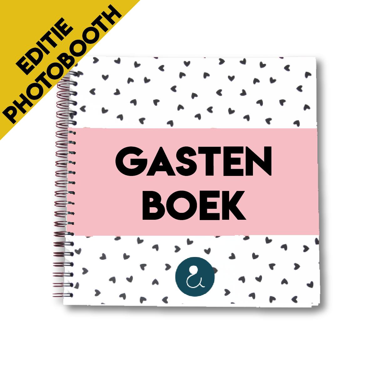 Gastenboek voor je bruiloft (PHOTOBOOTH)   roze