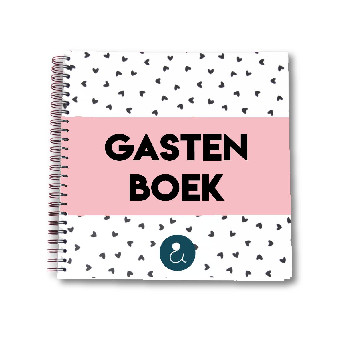 Gastenboek voor je bruiloft   roze