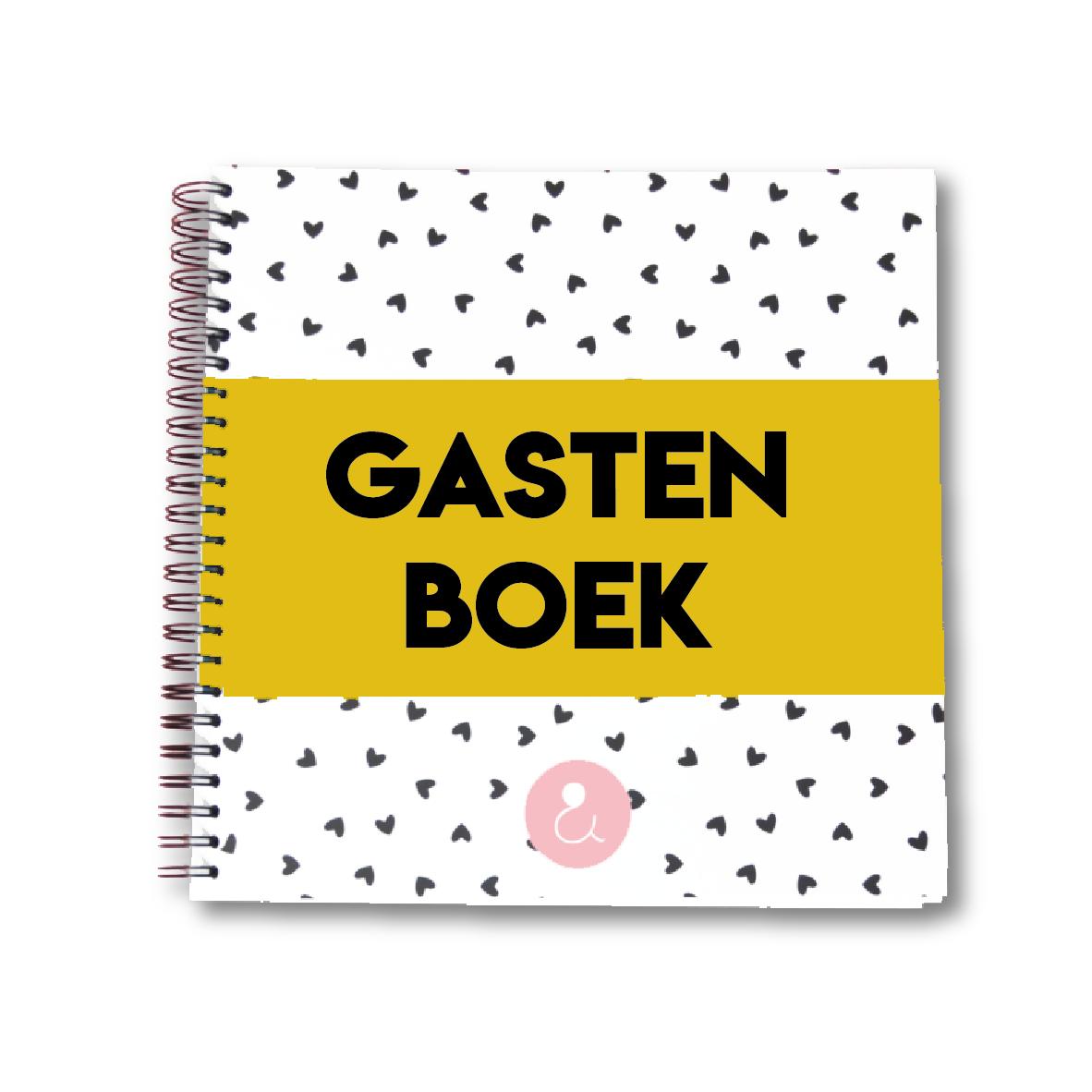 Gastenboek voor je bruiloft   okergeel